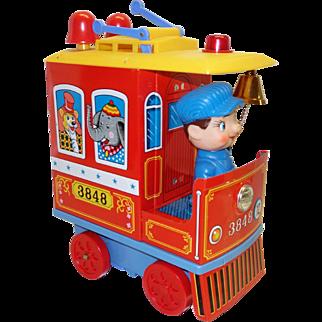 Vintage Battery Operated Kiddie Trolley 3848 in Original Box