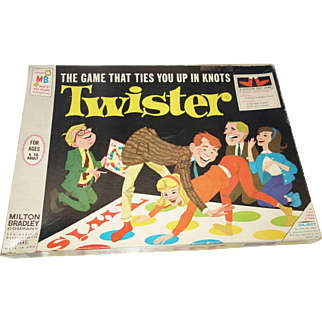 Twister Game by Milton Bradley Original 1966 Edition