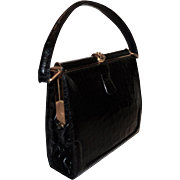 Stunning Demi Alligator Frame Handbag by Lucille De Paris