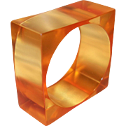 HUGE Chunky Square Resin Bangle Bracelet