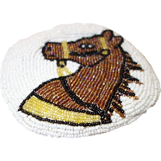 Vintage Beaded Horse Coin Purse