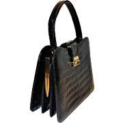 Elegant Baby Crocodile Handbag Made in France