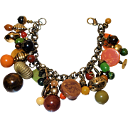 Vintage Loaded Bakelite Charm Bracelet
