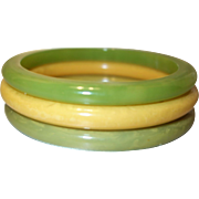 Set of Three Bakelite Bangle Bracelets
