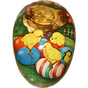 "HUGE 11 PC. West Germany Paper Mache Nesting Easter Egg Set in Original Box Largest Egg is 16"" x 12"""
