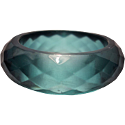 Teal Faceted Lucite Bangle Bracelet