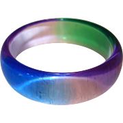 Vintage Watercolor Lucite Bangle Bracelet