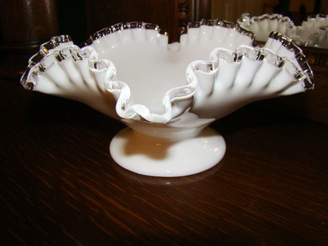 Fenton Silver Crest Footed Bowl