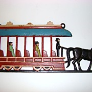 Cast Iron Horse Drawn Trolley Wall Hanging