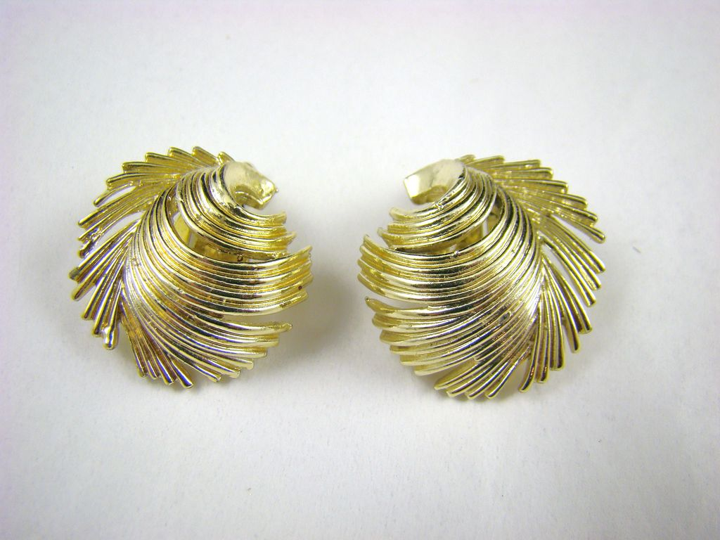 Lisner Gold Tone Fringe Earrings