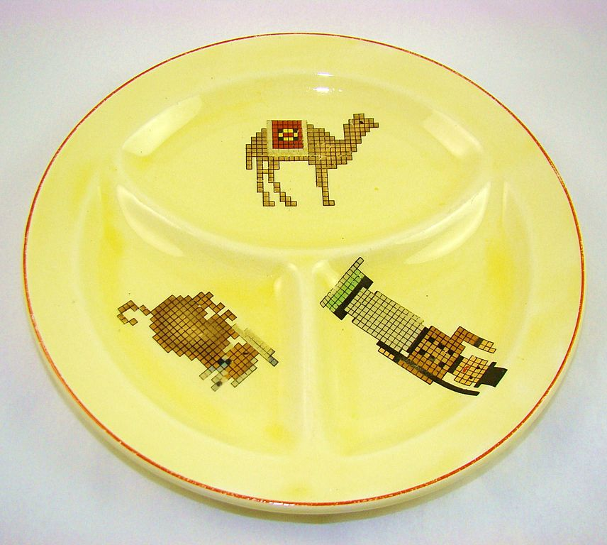 """SALE Rare 1920s Edwin M. Knowles """"Roma"""" Child's Divided Plate"""