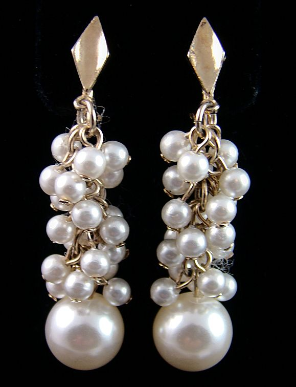 Lewis Segal Imitation Pearl Earrings