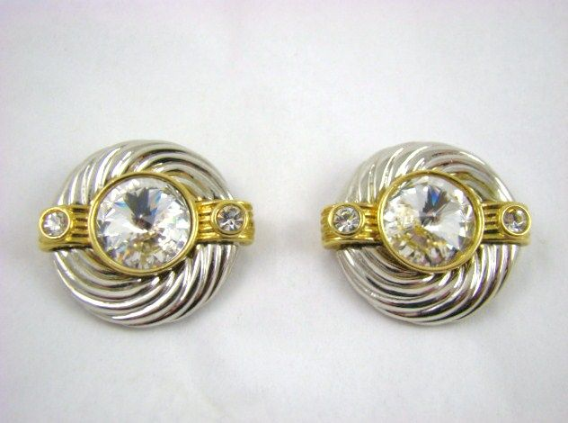 Dynamic Duo ~ Park Lane Rhinestone Evening Earrings