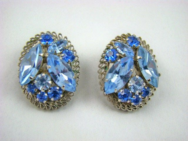Stunning Blue Austrian Crystal Earrings