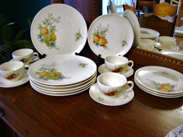 Discontinued 1960s Syracuse Carefree China Set ~ Wayside ~ Mint