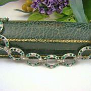 Art Deco Pot Metal and Paste Bracelet