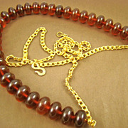 Kenneth Lane Cherry Amber Lucite Bead Belt - Red Tag Sale Item