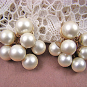 "Bold Dynasty Diva Imitation Pearl ""Cha Cha"" Earrings by Marvella"