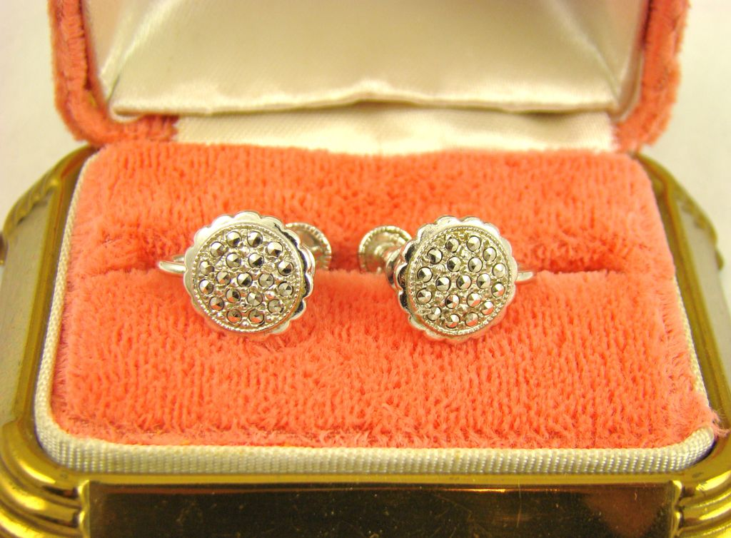 Sterling Theda Comet Argent Light Rhinestone Earrings