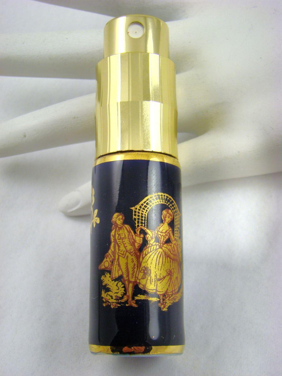 Limoges Porcelain Pump Spray Perfume Bottle