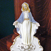 Lefton Porcelain Blessed Mother Holy Water Font