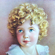 "Vintage Lithograph Entitled ""Goldilocks"" by Annie Benson Muller"