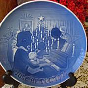 """Bing & Grondahl Porcelain Christmas Plate ~ """"Christmas at Home"""" ~ 1971"""