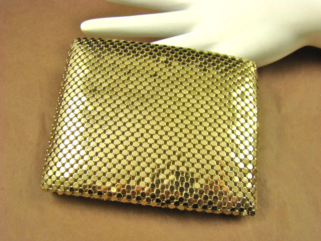Bi-Fold Gold Tone Mesh Wallet by Studio Imports NY