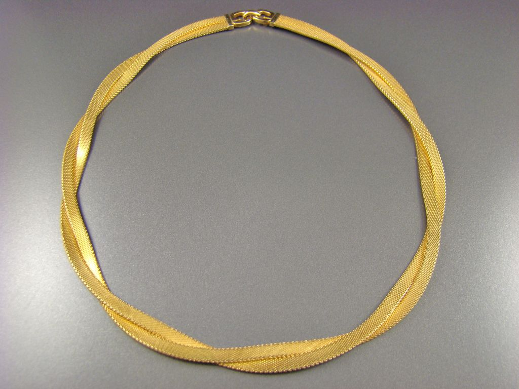 Grosse Germany Twisted Mesh Choker Necklace