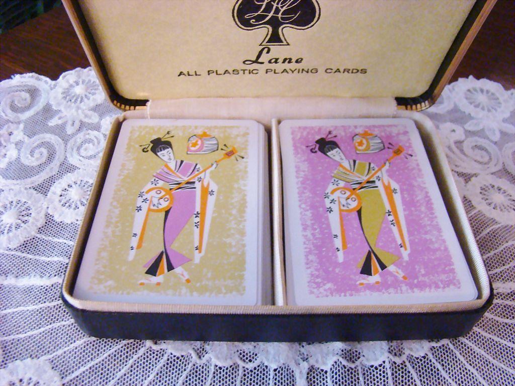 Rare Lane Geisha Playing Cards ~ Double Deck~ Vintage Estate Find