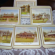 Pimpernel Boxed Set of Coasters ~ Australian Country Homes ~ Mint
