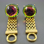 Stunning Dante Wrap Cuff Links ~ Faceted Watermelon Glass