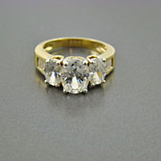 Dazzling Cubic Zirconia Anniversary/Engagement Ring