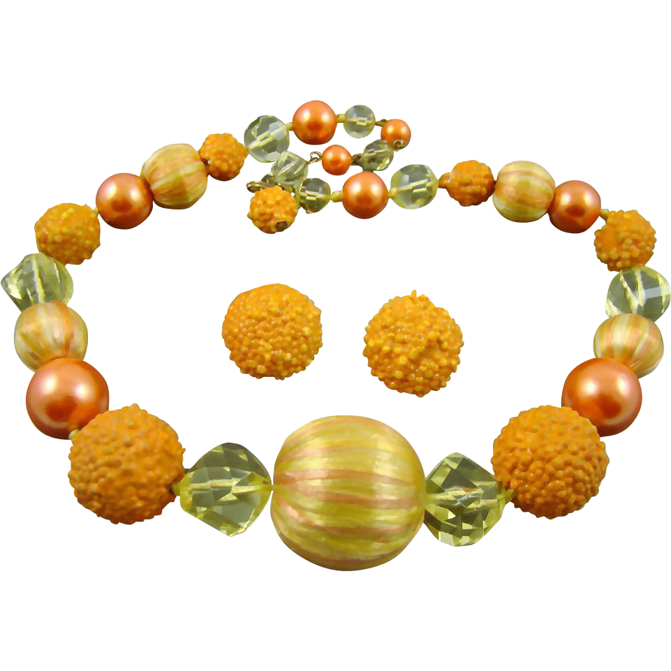 Rare Vogue Apricot and Yellow Demi Parure
