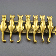 Museum of Fine Arts, MFA, Sitting Cats Brooch