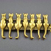 Museum of Fine Arts, MFA, Sitting Cats Brooch