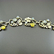 Forget-Me-Not Blue and Daffodil Yellow Moonglow Bracelet