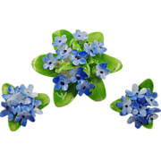 Adderley Floral China Blue Forget-Me-Not Demi Parure