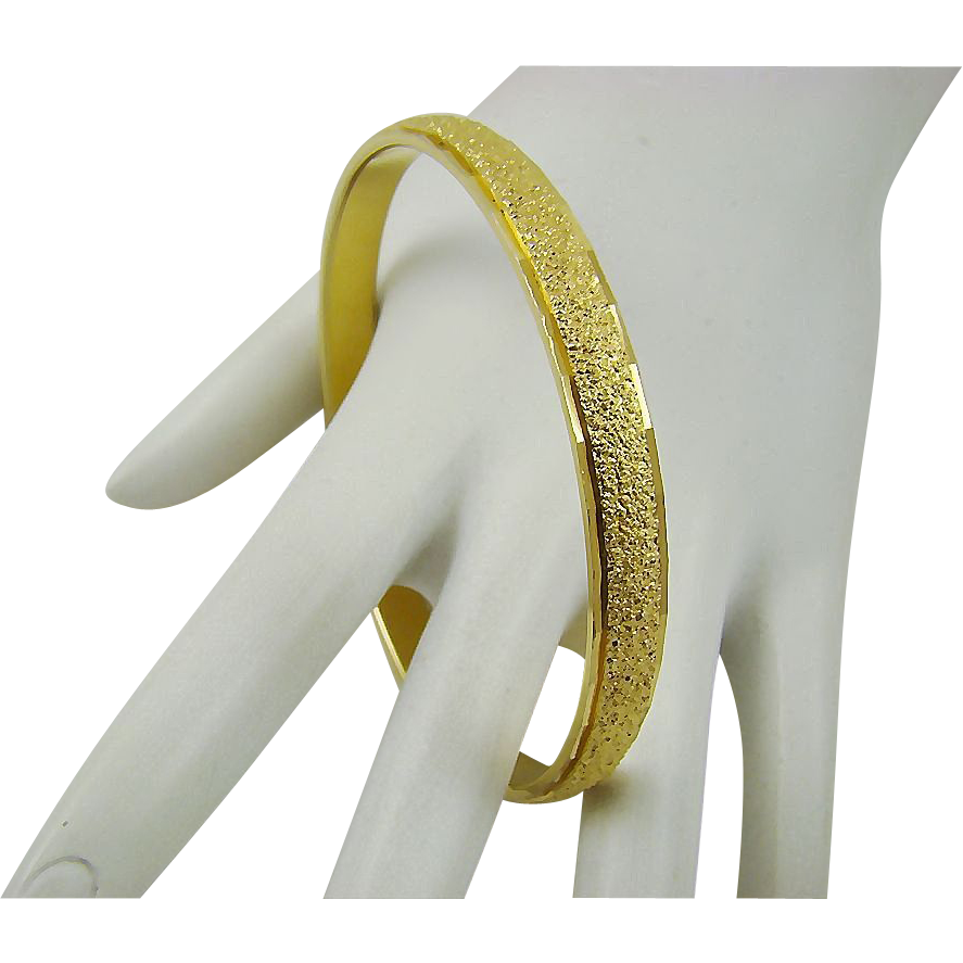 "Monet Textured ""Nugget"" Style Bangle Bracelet"
