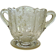 Elegant Era Cambridge Glass Elaine Sugar Bowl ~ Circa 1940