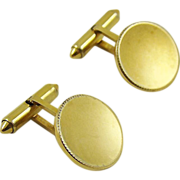Krementz Patented Gold Plated Cuff Links