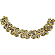 Crown Trifari Double Row Crystal Evening Bracelet