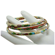 Set of Three Cloisonne Bangle Bracelets