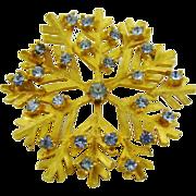 Dodds Blue Rhinestone Snowflake Brooch