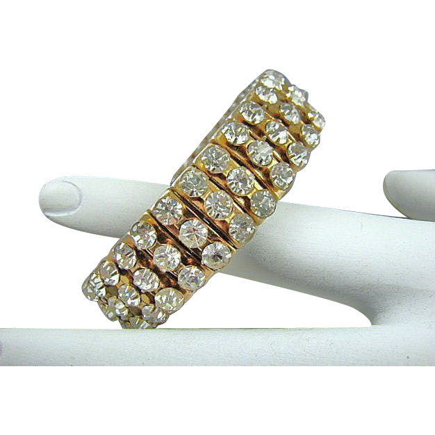 Rare Gold Tone Empire Made Expansion Bracelet Circa 50s