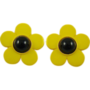 Pretty Yellow Black Eyed Susan Earrings ~ Nod to Beetle Fans