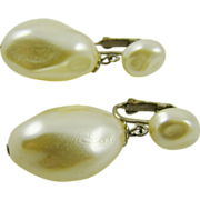 Imitation Pearl Baroque Drop Wedding Earrings
