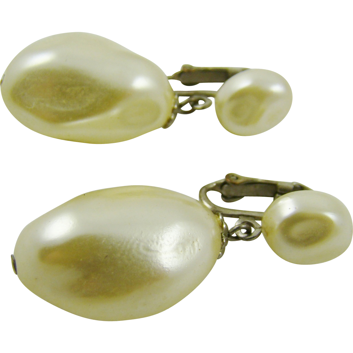 Imitation Pearl Baroque Drop Wedding Earrings