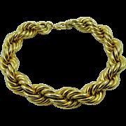 Les Bernard Heavy Gold Tone Link Runway Necklace Haute Couture