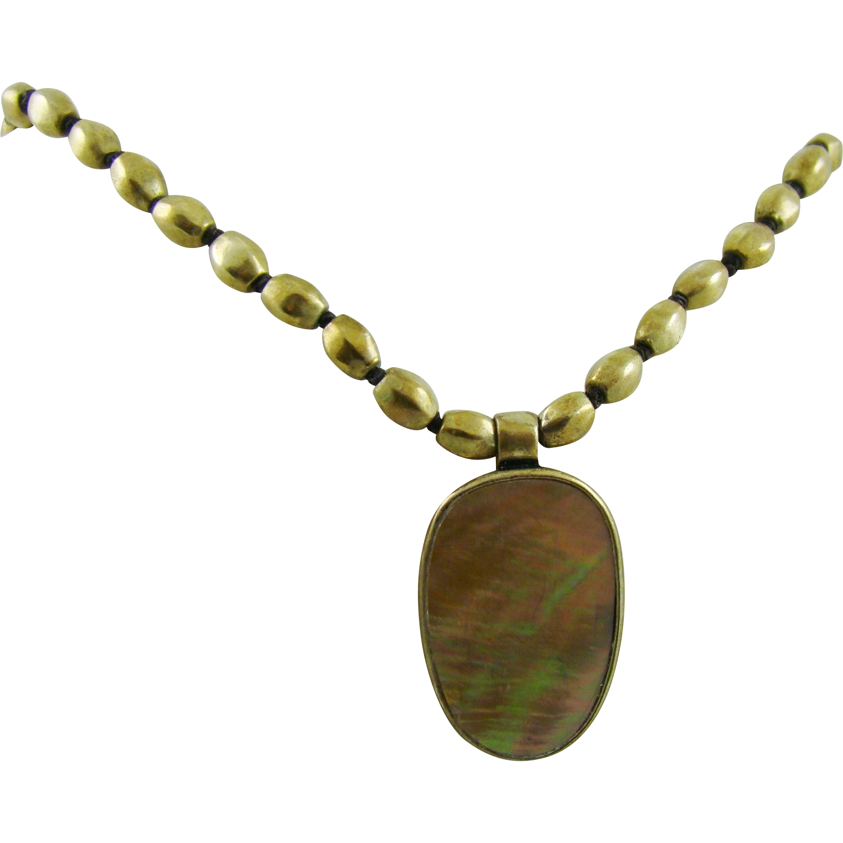 Kenneth Cole Abalone Pendant Necklace